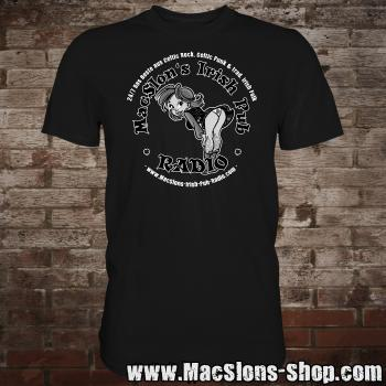 "MacSlon's ""Irish Girl Logo"" T-Shirt (black)"