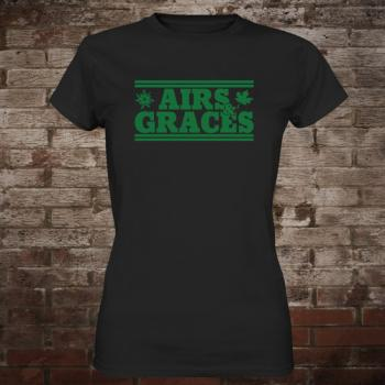 "Airs and Graces ""Logo"" Girly-Shirt (black)"