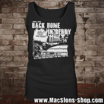 "MacSlon's ""Back Home In Derry"" Girly-Tank-Top"