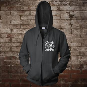 """Irish Bastard"" Zip-Jacke (black)"