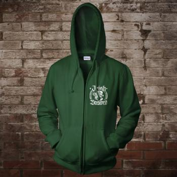 """Irish Bastard"" Zip-Jacke (green)"