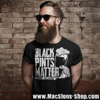 "Black Pints Matter ""Love Beer - Hate Racism"" T-Shirt (black)"