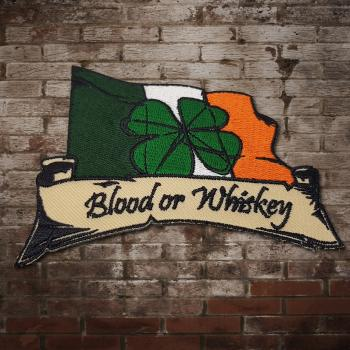 "Blood Or Whiskey ""Shamrock"" Aufnäher"