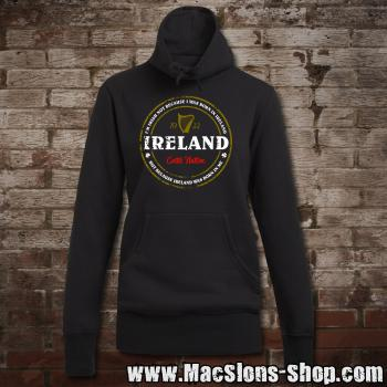 "Ireland ""Born In Me"" Girly Sweater Turtleneck (black)"