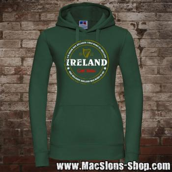 "Ireland ""Born In Me"" Girly-Hoodie (green)"