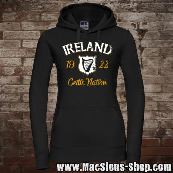 "Ireland ""Celtic Nation I"" Girly-Hoodie (black)"