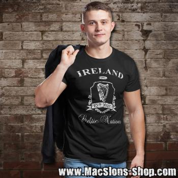 "Ireland ""Celtic Nation II"" T-Shirt (black/white)"