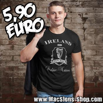 "Ireland ""Celtic Nation II"" T-Shirt (black/white) *Ausstellungsstück*"