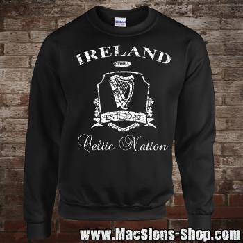 "Ireland ""Celtic Nation II"" Sweatshirt (black/white)"