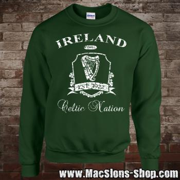 "Ireland ""Celtic Nation II"" Sweatshirt (green/white)"