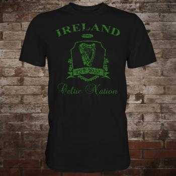 "Ireland ""Celtic Nation II"" T-Shirt (black/green)"