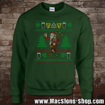 "MacSlon's ""Kilted Santa"" Christmas Sweatshirt (green)"