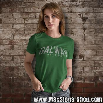 "Cities Of Ireland ""Galway"" Girly-Shirt (green)"