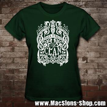 "Clan ""Celtica"" Girly-Shirt (green/white)"