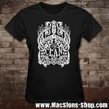 "Clan ""Celtica"" Girly-Shirt (black/white)"