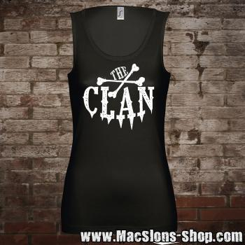 "Clan ""Logo"" Girl-Tank-Top (black/white)"