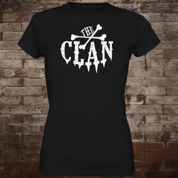 "Clan ""Logo"" Girly-Shirt (black/white)"
