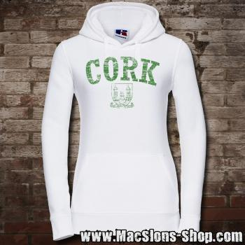 "Cork ""Statio Bene Fida Carinis"" Girly-Hoodie (white/green)"