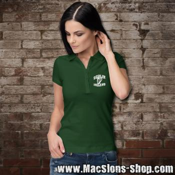 "Dublin ""Ireland - Harp"" Girly-Polo-Shirt-Prime (green-white)"