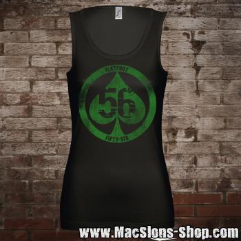 "Flatfoot 56 ""Spade"" Girl-Tank-Top (black/green)"