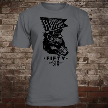 "Flatfoot 56 ""Boar"" T-Shirt (darkgrey/black)"