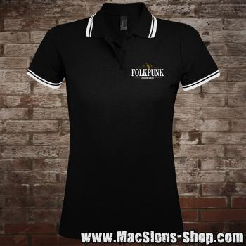 "MacSlon's ""Folkpunk - Forever"" Girly-Polo-Shirt"