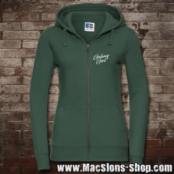 """Galway Girl"" Girly-Zip-Jacke (green)"
