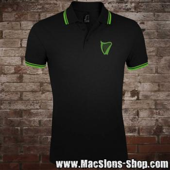 """Harp"" Polo-Shirt (black-green)"