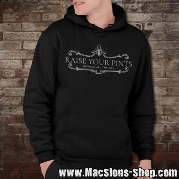 "Raise Your Pints ""Drinkin All The Day"" Hoodie (black)"