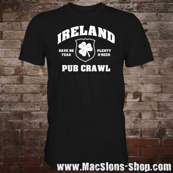 "Ireland ""Pub Crawl"" T-Shirt (black)"