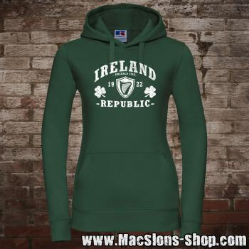 "Ireland ""Republic"" Girly-Hoodie (green/white)"