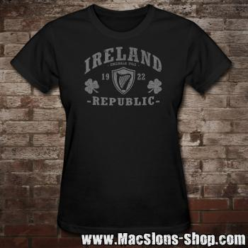 "Ireland ""Republic"" Girly-Shirt (black)"