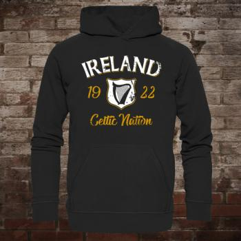 "Ireland ""Celtic Nation I"" Hoodie (black/front)"
