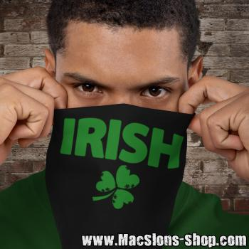 """Irish & Shamrock"" Bandana (black/green)"