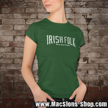 "Irish Folk ""Rocky Road To Dublin"" Girly-Shirt (green)"