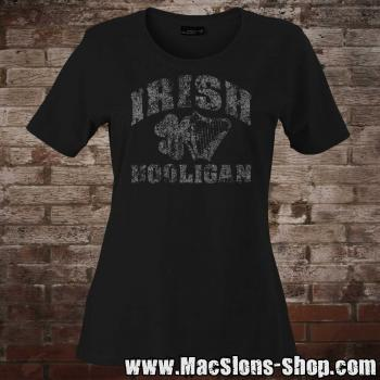 """Irish Hooligan"" Girly-Shirt (black)"