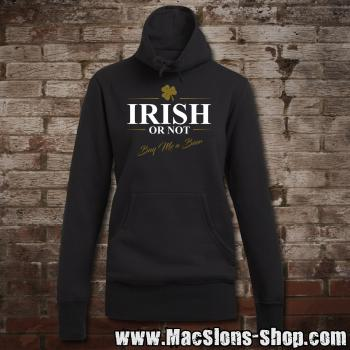 """Irish Or Not - Buy Me A Beer"" Girly Sweater Turtleneck (black)"