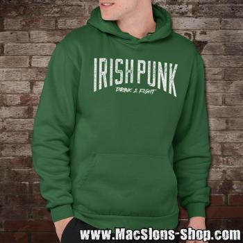 "Irish Punk ""Drink & Fight"" Hoodie (green)"