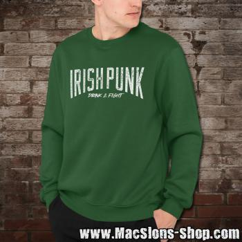 "Irish Punk ""Drink & Fight"" Sweatshirt (green)"