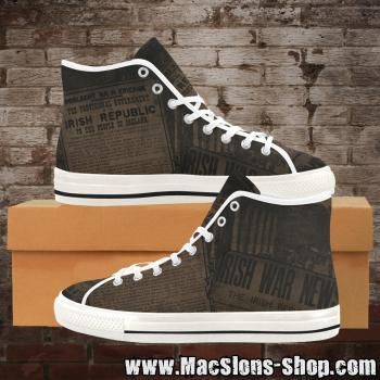 "MacSlon's ""Irish Republic"" Men Canvas High-Top Shoes"
