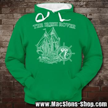"MacSlon's ""Irish Rover"" Contrast Hoodie (kelly green/white)"