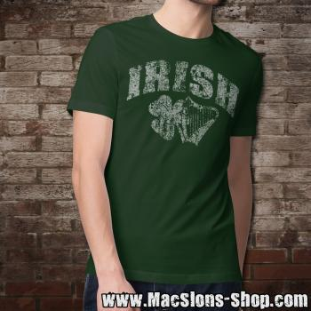 "Irish ""Shamrock & Harp"" T-Shirt (green)"