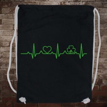 """Irish Heartbeat"" Gymsack (black/green)"
