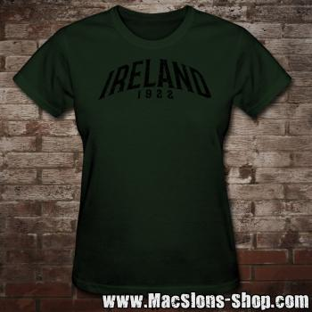 "Ireland ""1922 - Stamp"" Girly-Shirt (green)"