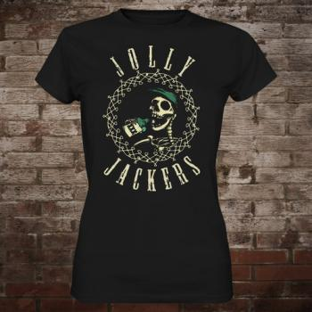 "Jolly Jackers ""Logo"" Girly-Shirt (black)"