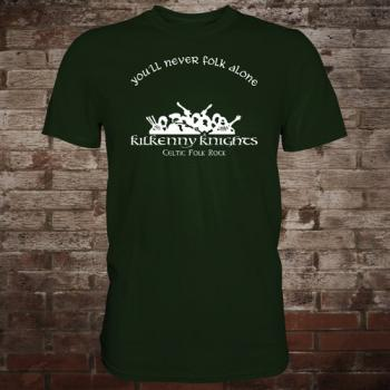 "Kilkenny Knights ""You'll Never Folk Alone"" T-Shirt (green/white)"