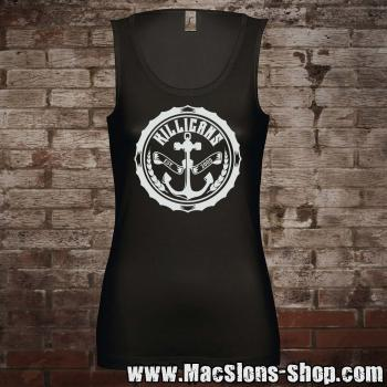 "Killigans ""Bottle Cap"" Girl-Tank-Top (black)"
