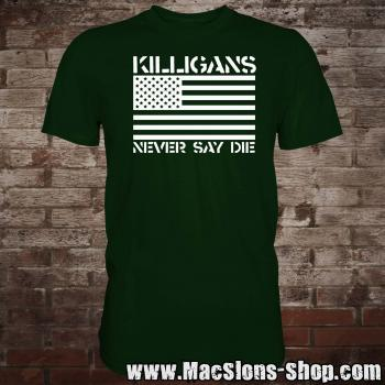 "Killigans ""Never Say Die"" T-Shirt (green/white)"