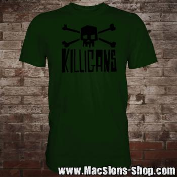 "Killigans ""Skull & Bones"" T-Shirt (green/black)"