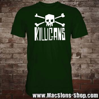 "Killigans ""Skull & Bones"" T-Shirt (green/white)"